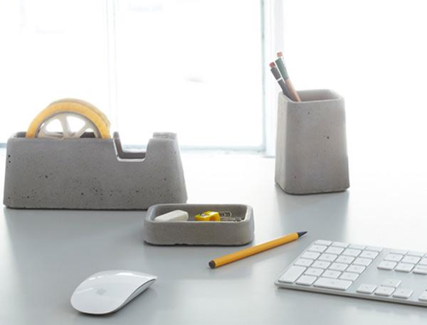 Accesorios Escritorio E9dx Accesorios De Escritorio Fabricados De Concreto Por Magnus Pettersen