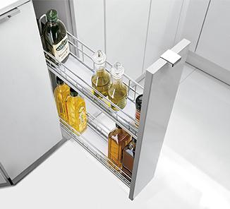 Accesorios Extraibles Para Muebles De Cocina Qwdq Especiero Base Classic 2 Niveles 150mm Plata Caj 1u En Accesorios