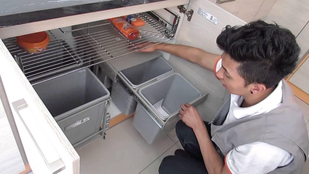 Accesorios Muebles De Cocina Tldn Basureros Extraibles Accesorios Para Cocina Quito Youtube