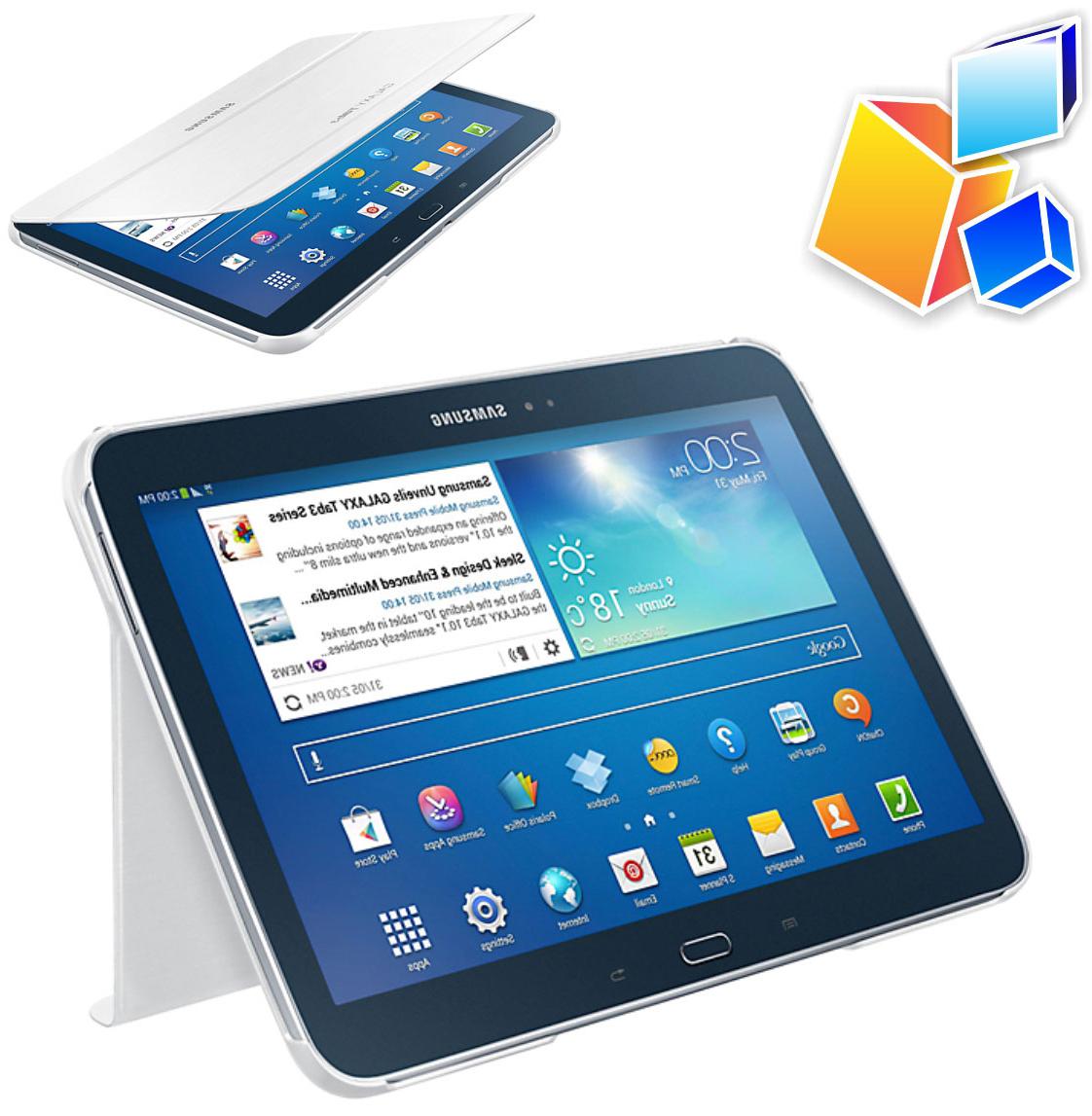 Accesorios Tablet Samsung Y7du Estuche Samsung Galaxy Tab 3 10 1 Book Cover Pcstats24
