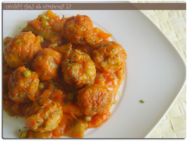 Albondigas Con Verduras Q0d4 El Recetario De Lady Halcon Albà Ndigas Con Verduras En Salsa De tomate