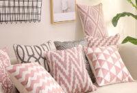 Almohadones Para sofa 87dx Funda De Almohada Bordada Funda De Cojà N Decorativa Para El Hogar Decoracià N sofà Rosa