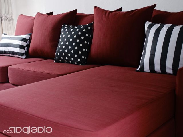Almohadones Para sofa Drdp sofa Con Chaiselongue Bordo Almohadones Decorativos Envio