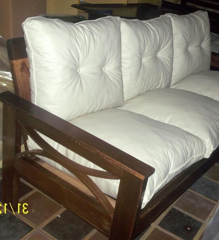 Almohadones Para sofa E6d5 sofa 2 Cuerpos En Madera Con Almohadones Sueltos