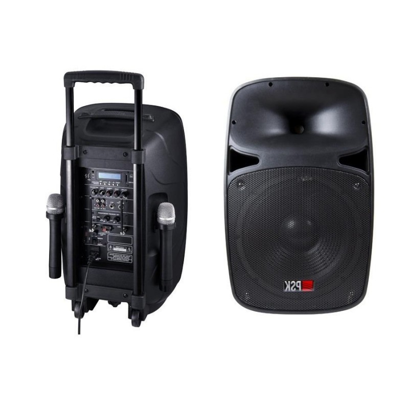 Altavoces Portatil Kvdd Altavoz Portatil Amplificado Usb Y Micrà Fono Spp 12 Psk Audio