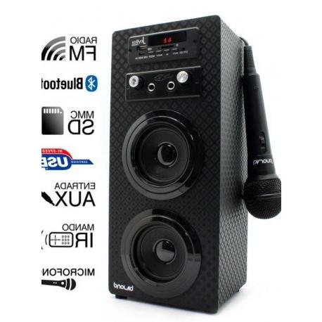 Altavoz Portatil 4pde Altavoz Portà Til Joybox Karaoke Negro 10w Decasa Electrodomà Sticos