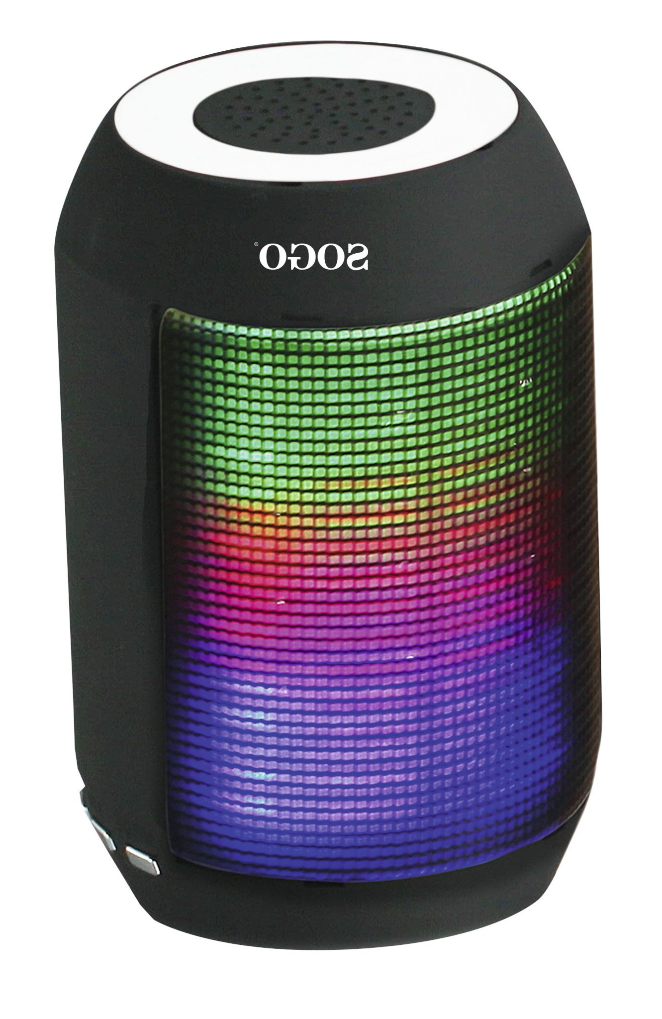 Altavoz Portatil Bluetooth 4pde sogo Altavoz Portatil Bluetooth Con Iluminacion Led Negro 50