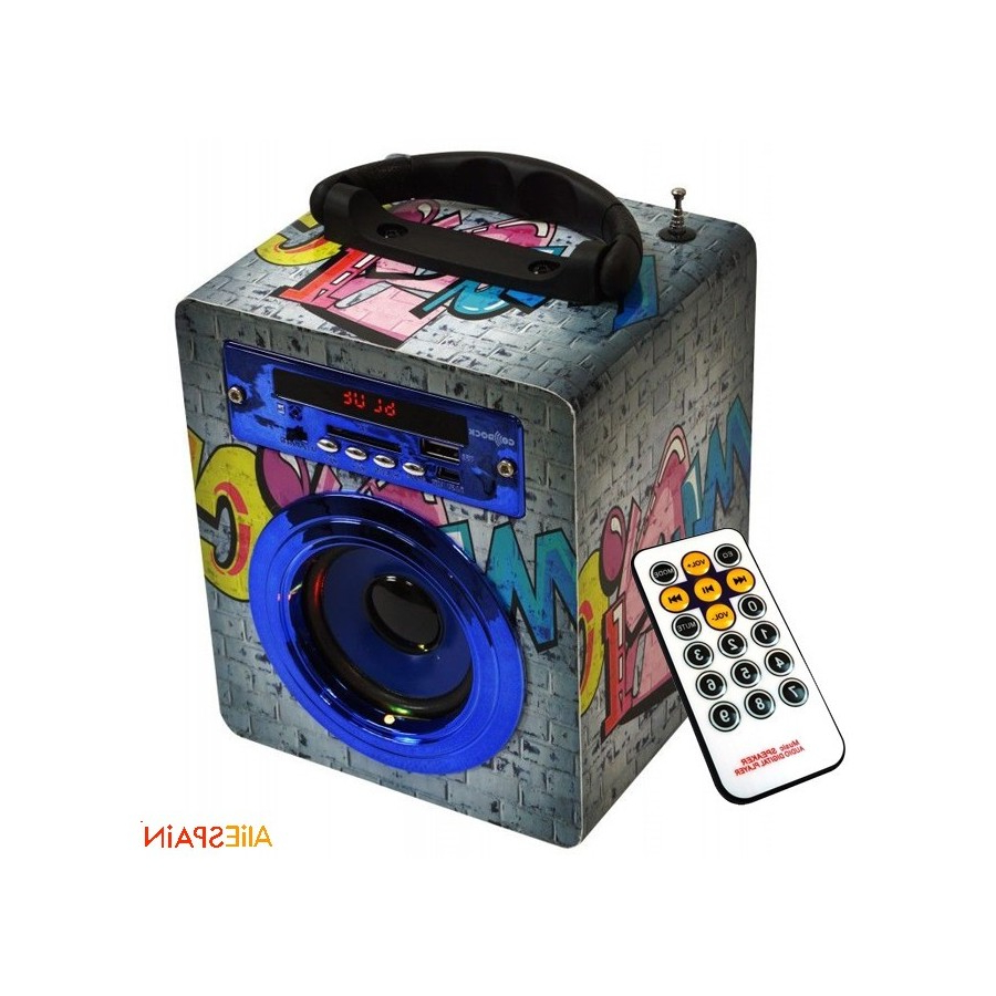 Altavoz Portatil Bluetooth Q0d4 Altavoz Portà Til Bluetooth Go Rock 3w 1 Graffiti Collection Grey