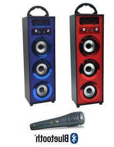 Altavoz Portatil Qwdq Altavoz Portatil 3 Altavoces Bluetooth Usb Radio Fm Karaoke Bateria