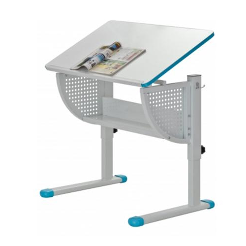 Altura Escritorio 0gdr Escritorio Juvenil Caspio Ajustable 80x50 Cm En Blanco Y Azul