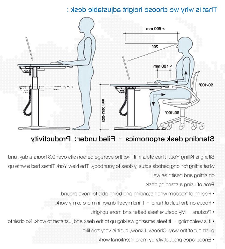 Altura Escritorio 9ddf Altura Ajustable Oficina Escritorio De La Putadora