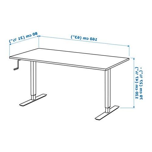 Altura Escritorio T8dj Skarsta Escritorio Sentado De Pie Blanco 160 X 80 Cm Ikea
