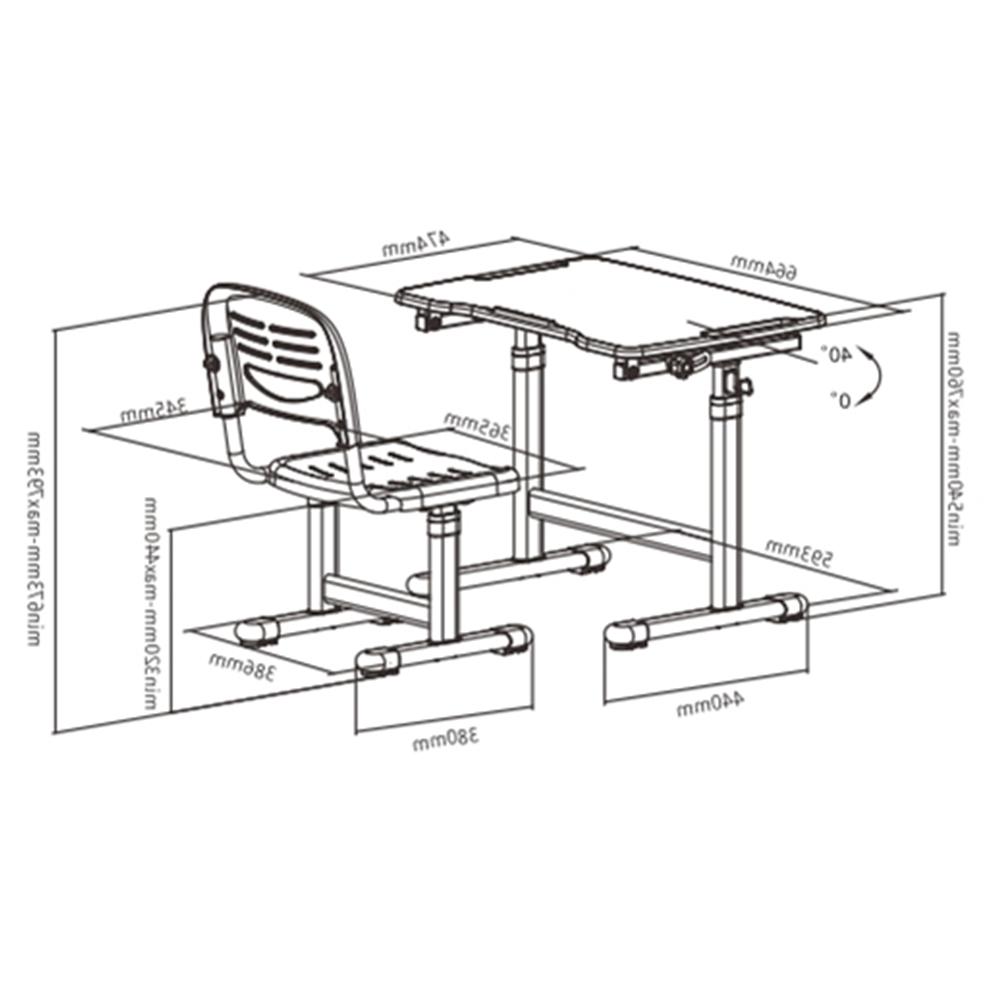 Altura Mesa T8dj Conjunto De Mesa E Cadeira Infantil Regulagem De Altura B202
