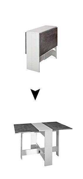 Amazon Mesas Plegables 3id6 Modern Loft Mesa Plegable Trick C3 Metal Rectangular Blanco Y