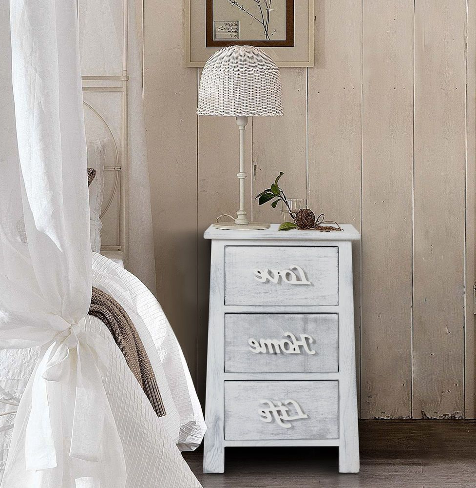 Amazon Muebles Dormitorio 9fdy Cajonera Mueble Oda 3 Cajones Decapado Blanco Gris Vintage