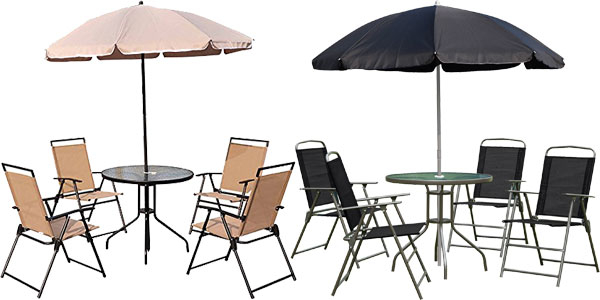 Amazon Muebles Jardin Etdg Chollo Conjunto De Muebles De Jardà N Outsunny Con 4 Sillas Plegables