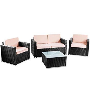 Amazon Muebles Jardin S5d8 Mc Haus Messina Set De Muebles Jardà N 4pc Negro Jardà N