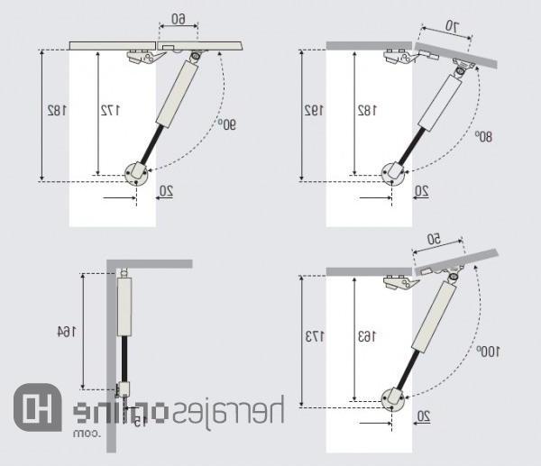 Amortiguadores De Gas Para Muebles De Cocina Ffdn Herrajes Online Herrajes Para Puertas Abatibles Y Elevables