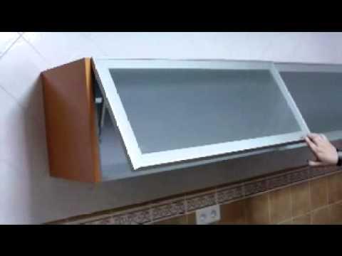 Amortiguadores De Gas Para Muebles De Cocina Rldj Vt Vitrina De Aluminio Con Piston Gas Mov Youtube Mejores Ideas