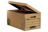 Archivador Carton 8ydm Cajon Fellowes Carton Reciclado Para Almacenamiento De Archivadores