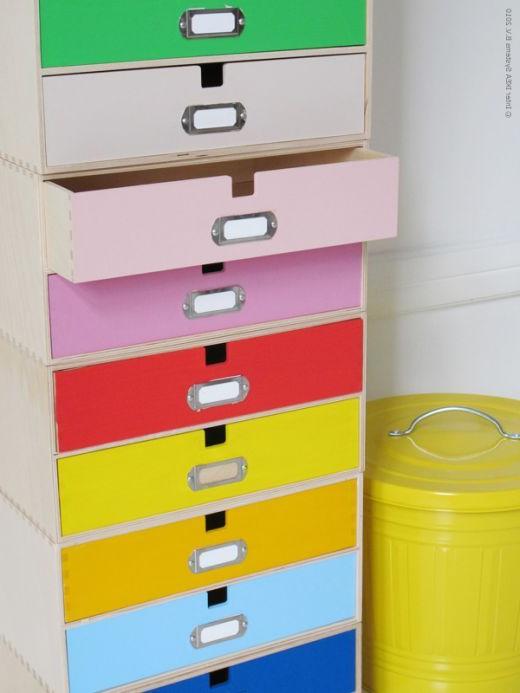 Archivador Metalico Ikea 3id6 Ikea Hack Pintar De Colores Los Cajones De Varios Archivadores De