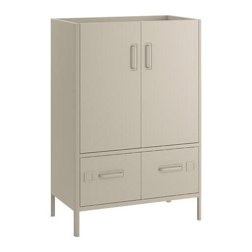 Archivador Metalico Ikea Nkde Idà Sen Armario Puertas Cajones Beige 80 X 47 X 119 Cm Ikea