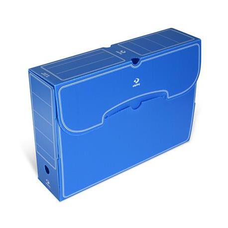 Archivador Plastico Etdg Archivador Definitastico Folio Azul Microdisk