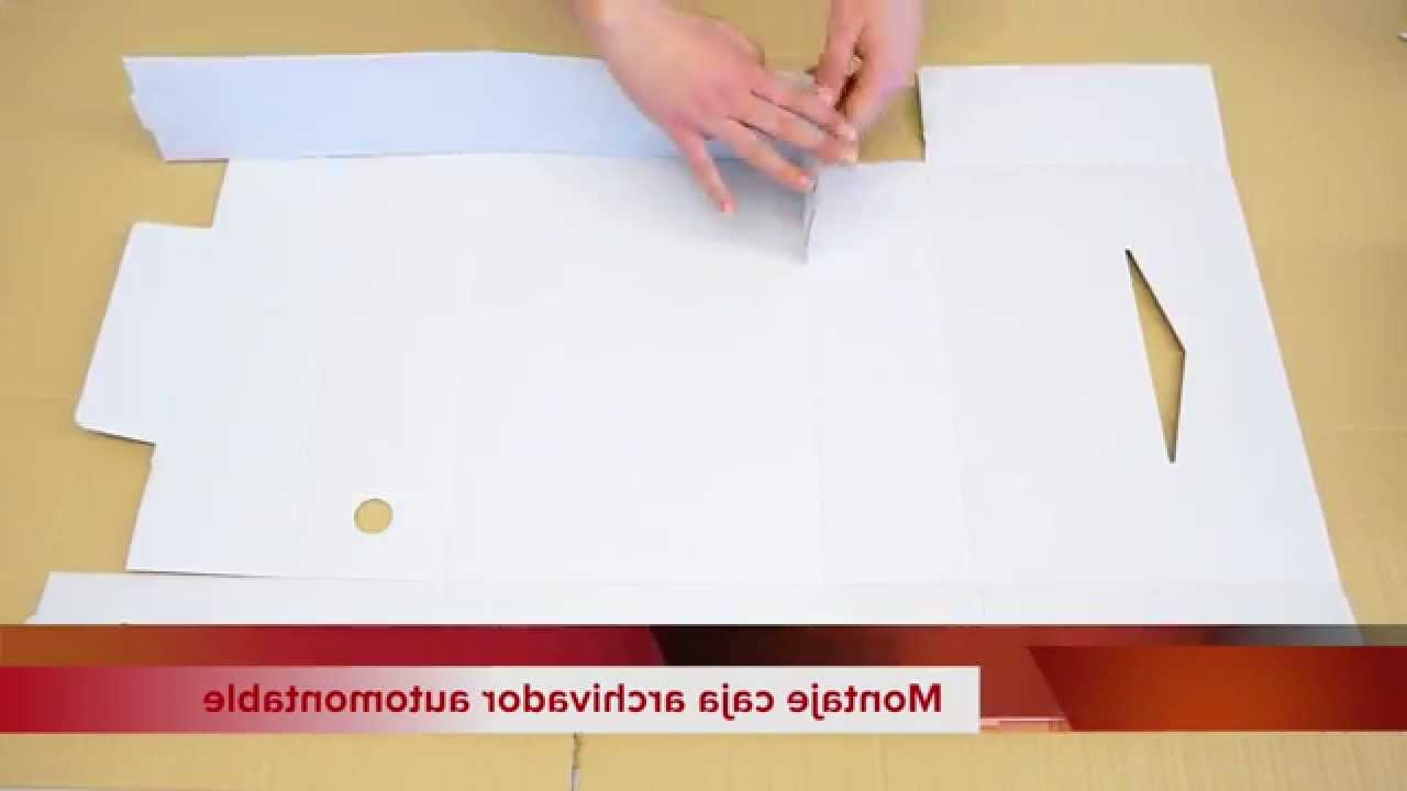 Archivadores De Carton Wddj Caja De Cartà N Archivador Automontable Fà Cil Youtube