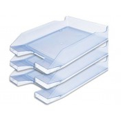 Archivadores De Plastico Xtd6 Bandeja sobremesa Plastico Q Connect Azul Claro Transparente