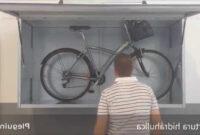 Armario Para Bicicletas O2d5 Armario Metà Lico Trastero Para La Plaza De Garaje Youtube
