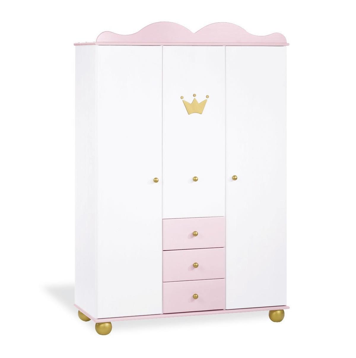 Armarios Para Bebes S5d8 Armario Blanco Infantil De Princesa Con Corona Real De Pinolino