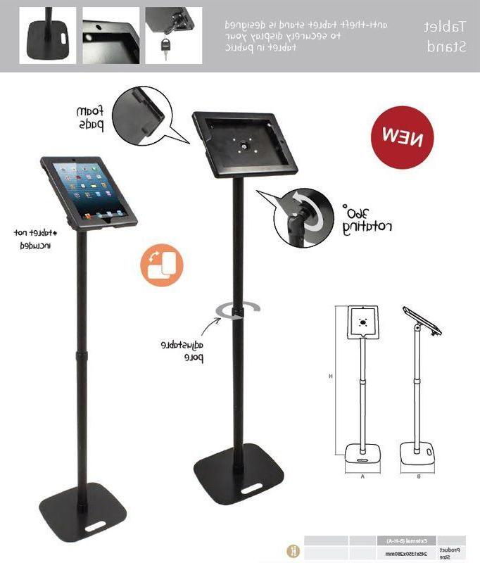 Atril Para Tablet Gdd0 soporte Para Tablet Ipad Con Cerradura Pie Para Stand
