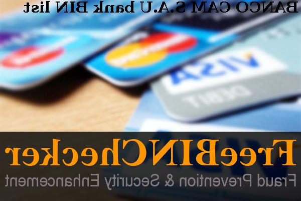 Banco Cam J7do Banco Cam S A U Bin List Check the Bank Identification Numbers by