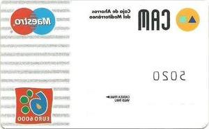 Banco Cam S5d8 Tarjeta De Banco Cam 1 Cam Caja De Ahorros Del Mediterraneo