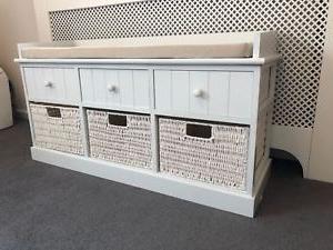 Banco Con Cajones Jxdu Blanco Individual asientos Almacenaje Banco Muebles Del Hogar Con