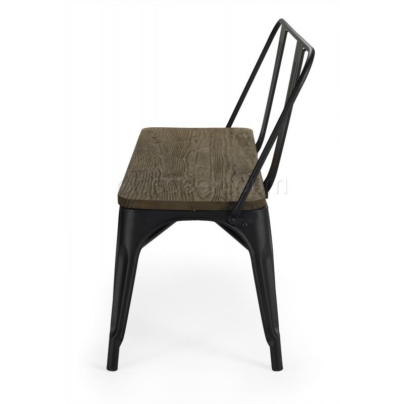 Banco Con Respaldo Q0d4 Banco tolix Estilo Vintage asiento Madera Mueblespacio