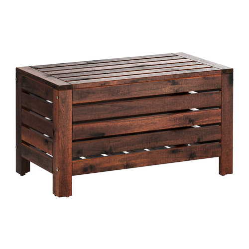 Bancos De Jardin Ikea Irdz à Pplarà Storage Bench Outdoor Brown Stained Brown Patio
