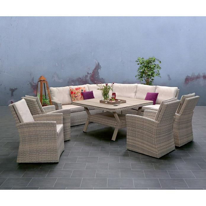 Bauhaus Mesas Jardin Wddj Sunfun Set De Muebles De Jardà N Johannesburg Vidrio Gris 8303