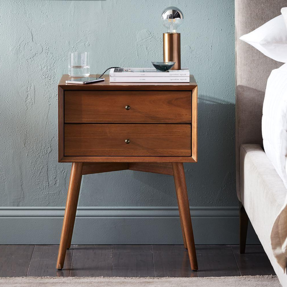 Bedside Tables Ipdd Mid Century Bedside Table Acorn West Elm Uk