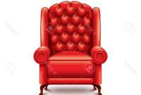 Butaca Roja Ftd8 butaca Roja Aislada En Blanco Fotorrealista Ilustracià N Vectorial