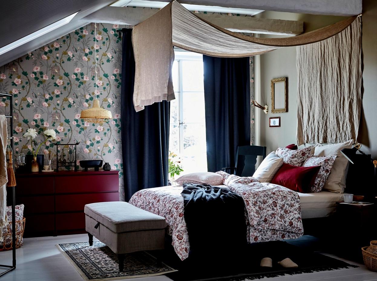 Cómodas Whdr Gran Dormitorio Matrimonio Moderno Ikea Malm C C3 B3moda Rojo Oscuro