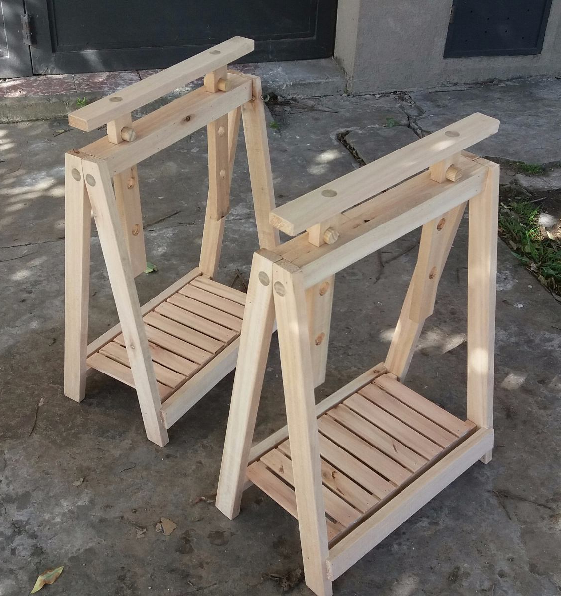 Caballete Regulable D0dg Caballetes De Madera Regulables En Altura 950 00 En Mercado Libre