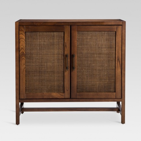 Cabinet Jxdu Warwick 2 Door Wood Rattan Accent Cabinet Thresholdâ Tar
