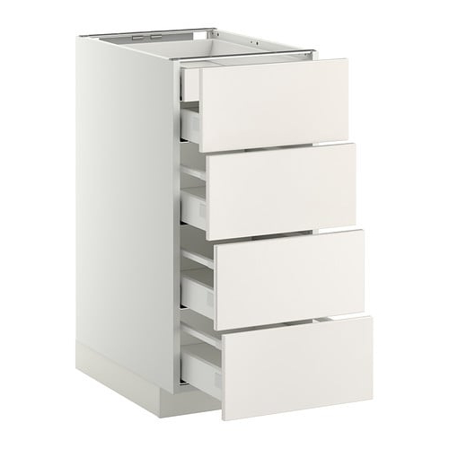 Cajones Extraibles Cocina Ikea Ipdd Metod Armario Bajo Cocina 5 Cajones Blanco Veddinge Blanco 40 X 60