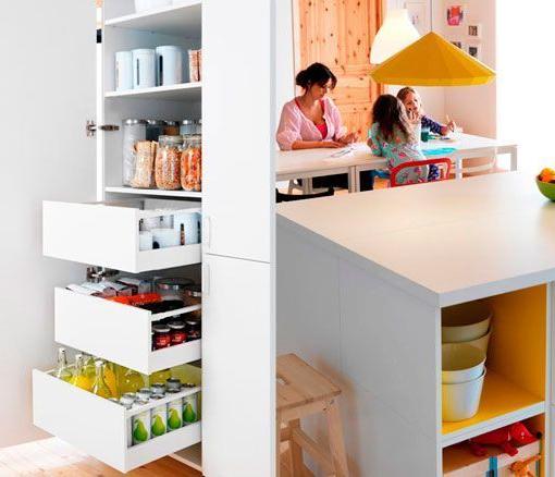 Cajones Extraibles Cocina Ikea Nkde Cocina Blanca Con isla Integrada En Un Salà N Multifuncional