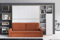 Cama Abatible Horizontal Con sofa Budm Litera Abatible Horizontal Con sofà De 190x90cms Cama