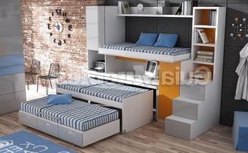 Cama Escritorio Abatible Ikea Etdg Dà Nde Puedes Encontrar Literas Triples Habitacià N Infantil