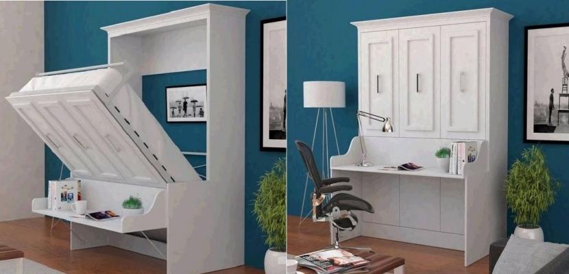 Cama Escritorio Abatible Ikea Mndw Ideas De Camas Que Se Esconden En El Techo Pared O Dentro De Armarios