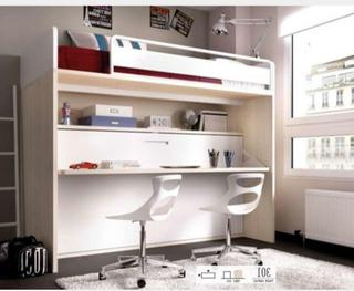 Cama Escritorio Abatible Ikea U3dh Cama Con Escritorio Abatible De Segunda Mano En Wallapop