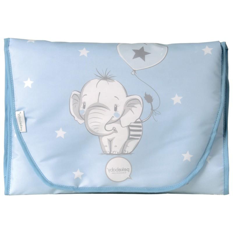 Cambiador Bebe Plegable J7do Cambiador Bebà Plegable Elefantino Azul Pekebaby